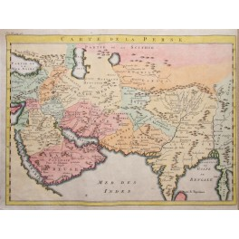 PERSIA CARTE DE LA PERSE ANTIQUE MAP INDIA BELLIN 1760