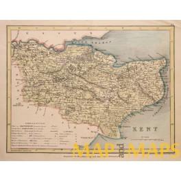 Kent Cantia England antique map 1830