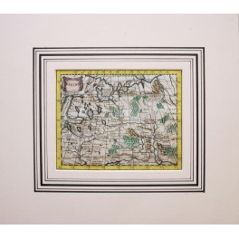 Russia Moscovia Lapland ancient map Buffier 1772
