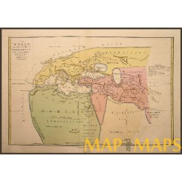 Map of the world according to Herodotus Wilkinson 1812