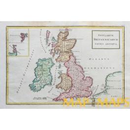 British Isles Scotland Wales Ireland old map Cellarius 1796