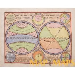 World Hemispheres Equator Cancer Capricorn Chiquet 1719