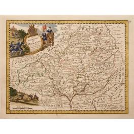 Moravia Morava Cesko antique map by Le Rouge 1756.