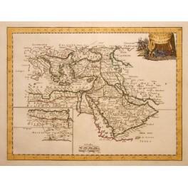 Ottoman Empire L'Empire Des Turcs map by Le Rouge 1756