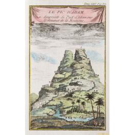 Adam's Peak – Ceylon - old print by Bellin print 1766