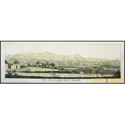 Marseille Old panoramic view of France by Bollingen 1790.