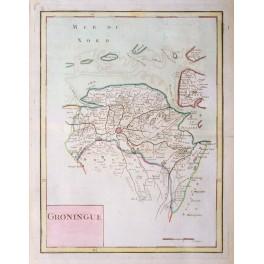 Groningen Holland antique map by Le Rouge/Crepy 1767