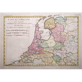 Netherlands Holland Amsterdam antique map Boone 1780