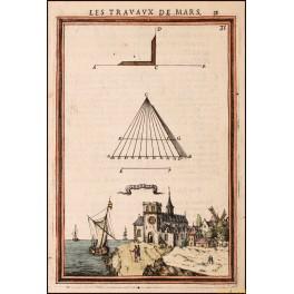 GRONELLE Les Travaux de Mars antique engraving Mallet 1671