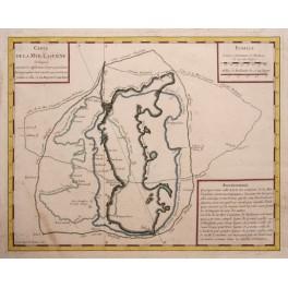 Carte de la Mer Caspiene antique map 1740 Anonymous