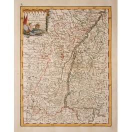 France Alsance L'Alsace antique map Le Rouge 1756