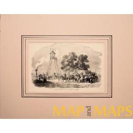 Caucasus signal post Caucasian Fine antique print 1890