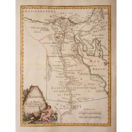 Egypt Nile delta antique map Le Rouge 1756