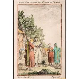 Women of Siberia Russia old print by Bellin print 1750