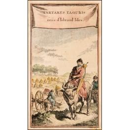 Tartaria Russia old print by Bellin print 1750