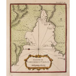 Bay de Valinco Corsica antique chart by Bellin 1752
