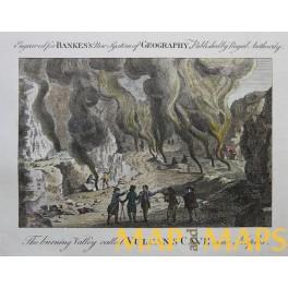 Vulcan's Cave near Naples, Italy, Original antique print Bankes 1780