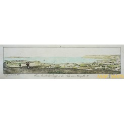 Lake Marseille France old print Marseille by Bollingen 1790.
