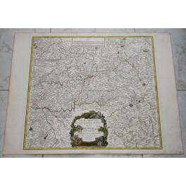 GOUVERMENT GUIENNE France antique map by Vaugondy 1753