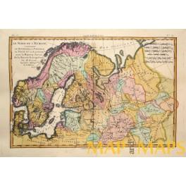 Denmark Norway Sweden Finland Latvia map Boone 1780