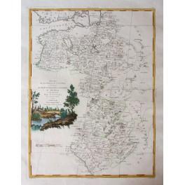 Russia Nowogrod antique map by Zatta Venice 1781