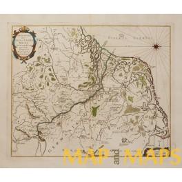 PATRIAE ANTIAUAE JULII ET CAROLI MAGNI OLD MAP DEL SEMINARIO 1696