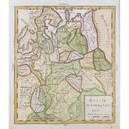 RUSSIA MOSCOW FINLAND PERTERSBURG OLD MAP VAUGONDY 1756