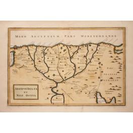 Egypt Nile Delta AEGYPTI DELTA Fine map Cellarius 1796