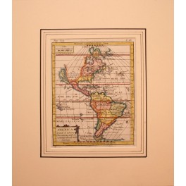 Americas America Canada antique map by Buffier 1761