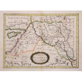 SORIE et DIARBECK Middle East antique map Sanson 1652