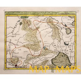 Campine/Kempen, Liege Belgium 1748 antique map Vaugondy