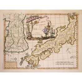 Japan Korea antique map Atlas Nouvelby Le Rouge 1756