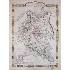 Russia in Europe Old map since Peter the Great Tallis 1880