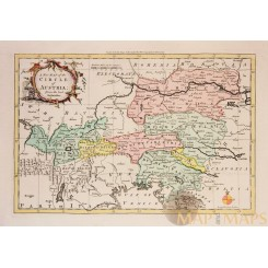 Austria Antique Old map Circle of Austria by Rollos 1756