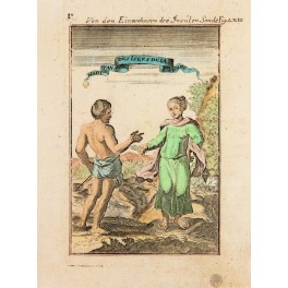 East Indies Indonesia Natives Engraving Mallet 1685