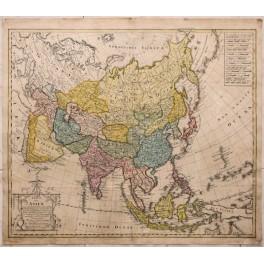 Asia China Japan Korea India old map Homan Heirs 1804