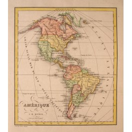 United States Mexico Caribbean Brazil Dufour map c1830