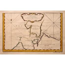 Russia Novaya Zemlya Willem Barentsz map Bellin 1758