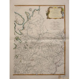 1787 LARGE MAP, RUSSIA IN EUROPE, MOSCOW, by D'ANVILLE