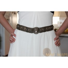 Antique Silver Russian Lady's Belt in original and authentic condition 19th century.