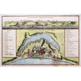 ST. SALVADOR BRAZIL Plan de la Ville OLD MAP BELLIN1758