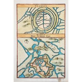 ANTIQUE MAP CHINA QIANTANG RIVER VUSIHYEN-HU CHEW FU OLD ENGRAVING BELLIN 1750