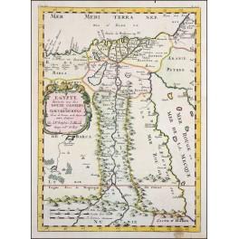 Egypt Nile Valley antique map by Sanson/Abberville 1662