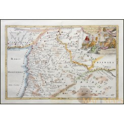 Syria map after Alexander The Great by Blundell 1722