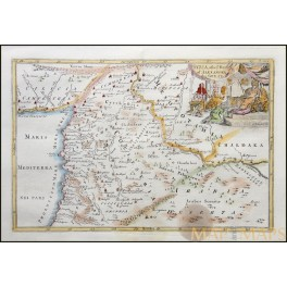 Mesopotamia Alexander the Great antique map by Blundell 1722