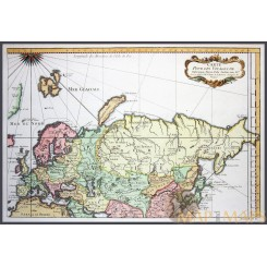 Voyages de Rubruquis Old map Europe Asia by Bellin 1749
