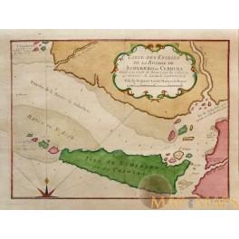 Sierra Leone SCHERBRO ou CERBERA Old map Bellin 1750