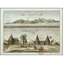 Sierra Leona mountain landscape views old print Bellin 1746