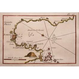 Bay Ligurian Palmaria Tino and Tinetto Italy Roux 1764