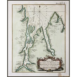 Guyana and Suriname rivers antique map Bellin 1764